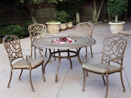 Darlee Outdoor Living Standard Florence Cast Aluminum Cushion Dining Set
