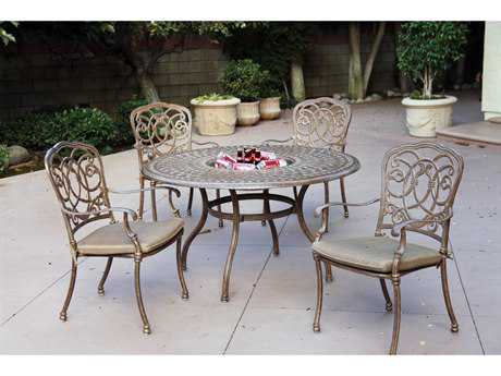 Darlee Outdoor Living Florence Cast Aluminum Cushion Dining Set