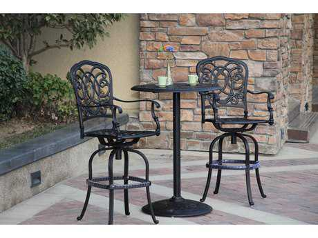 Darlee Outdoor Living Standard Florence Cast Aluminum Counter Height Set