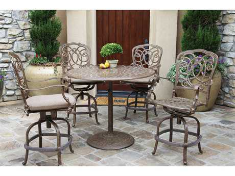 Darlee Outdoor Living Standard Florence Cast Aluminum Counter Height Set PatioLiving