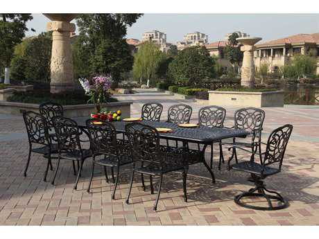 Darlee Outdoor Living Standard Florence Casual Cushion Cast Aluminum Dining Set
