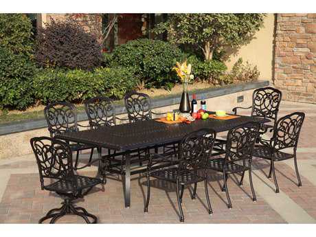 Darlee Outdoor Living Patio Cast Aluminum Dining Set