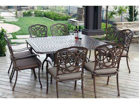 Darlee Outdoor Living Standard Florence Casual Cast Aluminum Cushion Dining Set