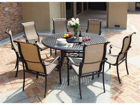 Darlee Outdoor Living Standard Monterey Casual Cast Aluminum Dining Set
