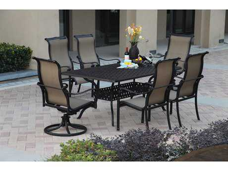 Darlee Outdoor Living Standard Monterey Cast Aluminum Dining Set