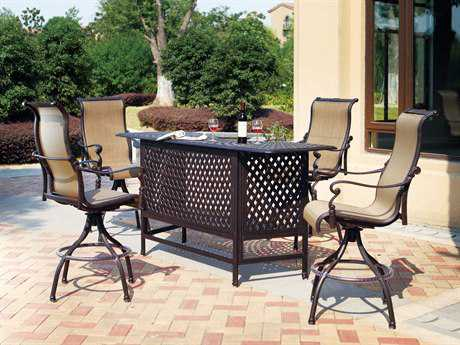 Darlee Outdoor Living Standard Monterey Cast Aluminum Bar Set
