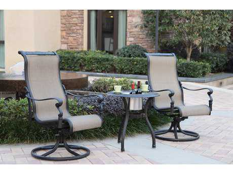 Darlee Outdoor Living Standard Monterey Cast Aluminum Lounge Set