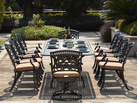 Darlee Outdoor Living Sedona Cast Aluminum Antique Bronze 11 Piece  Dining Set PatioLiving