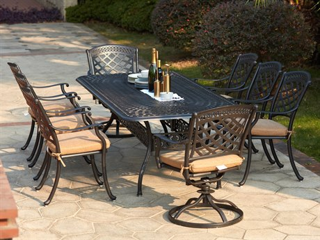 Darlee Outdoor Living Sedona Cast Aluminum Antique Bronze 9 Piece  Dining Set PatioLiving