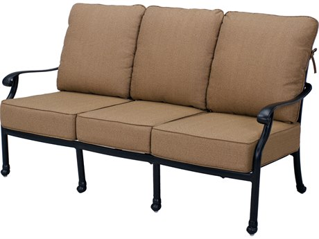 Darlee Outdoor Living Madison Cast Aluminum Antique Bronze Sofa PatioLiving