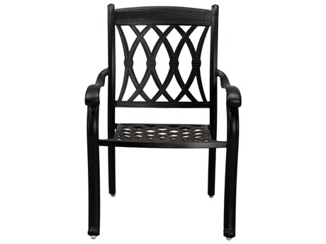 Darlee Outdoor Living Capri Cast Aluminum Antique Bronze Dining Arm Chair (Price Includes 4) PatioLiving