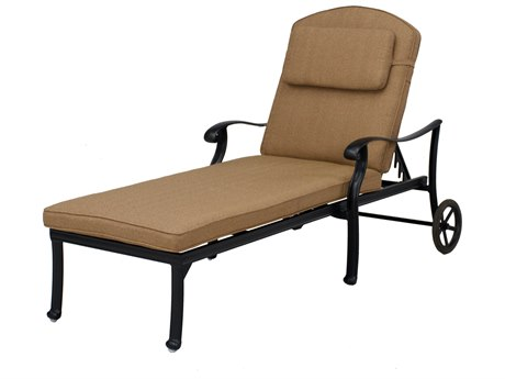 Darlee Outdoor Living Capri Cast Aluminum Antique Bronze Chaise Lounge (Price Includes 2) PatioLiving