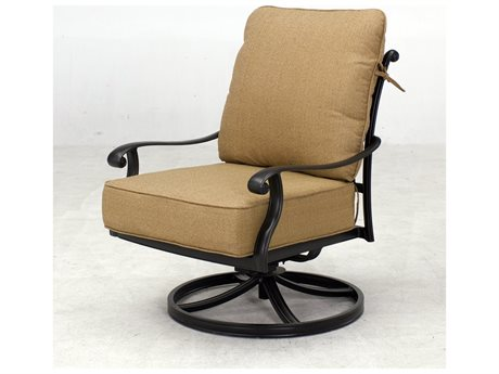 Darlee Outdoor Living Capri Cast Aluminum Antique Bronze Lounge Chair  (Price Includes 4) PatioLiving