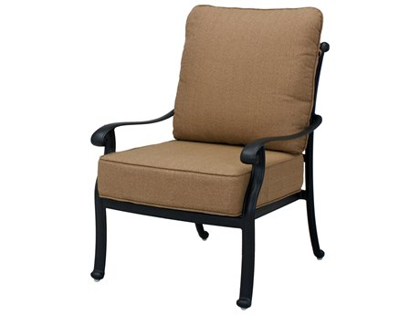 Darlee Outdoor Living Capri Cast Aluminum Antique Bronze Lounge Chair  (Price Includes 4)