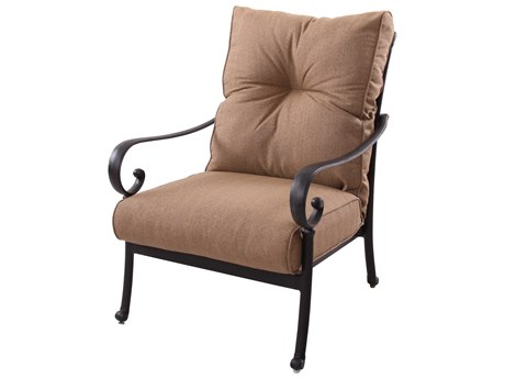 Darlee Outdoor Living Santa Anita Cast Aluminum Antique Bronze Lounge Chair (Price Includes 4)