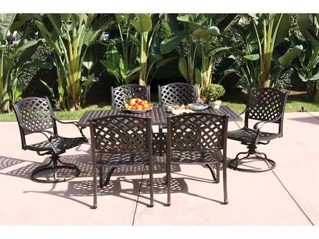 Darlee Outdoor Living Standard Nassau Cast Aluminum Dining Set