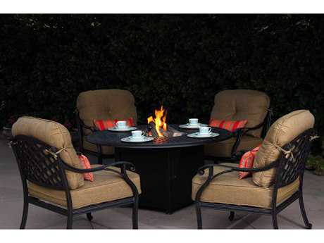 Darlee Outdoor Living Standard Nassau Casual Cushion Cast Aluminum Lounge Set