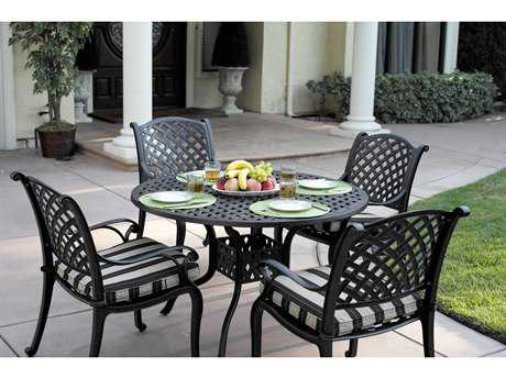 Darlee Outdoor Living Standard Nassau Casual Cushion Cast Aluminum Dining Set