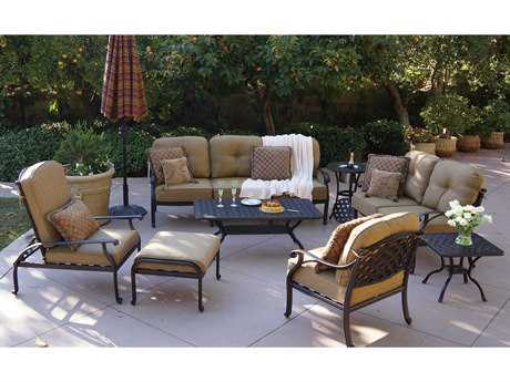 Darlee Outdoor Living Standard Nassau Cast Aluminum Lounge Set