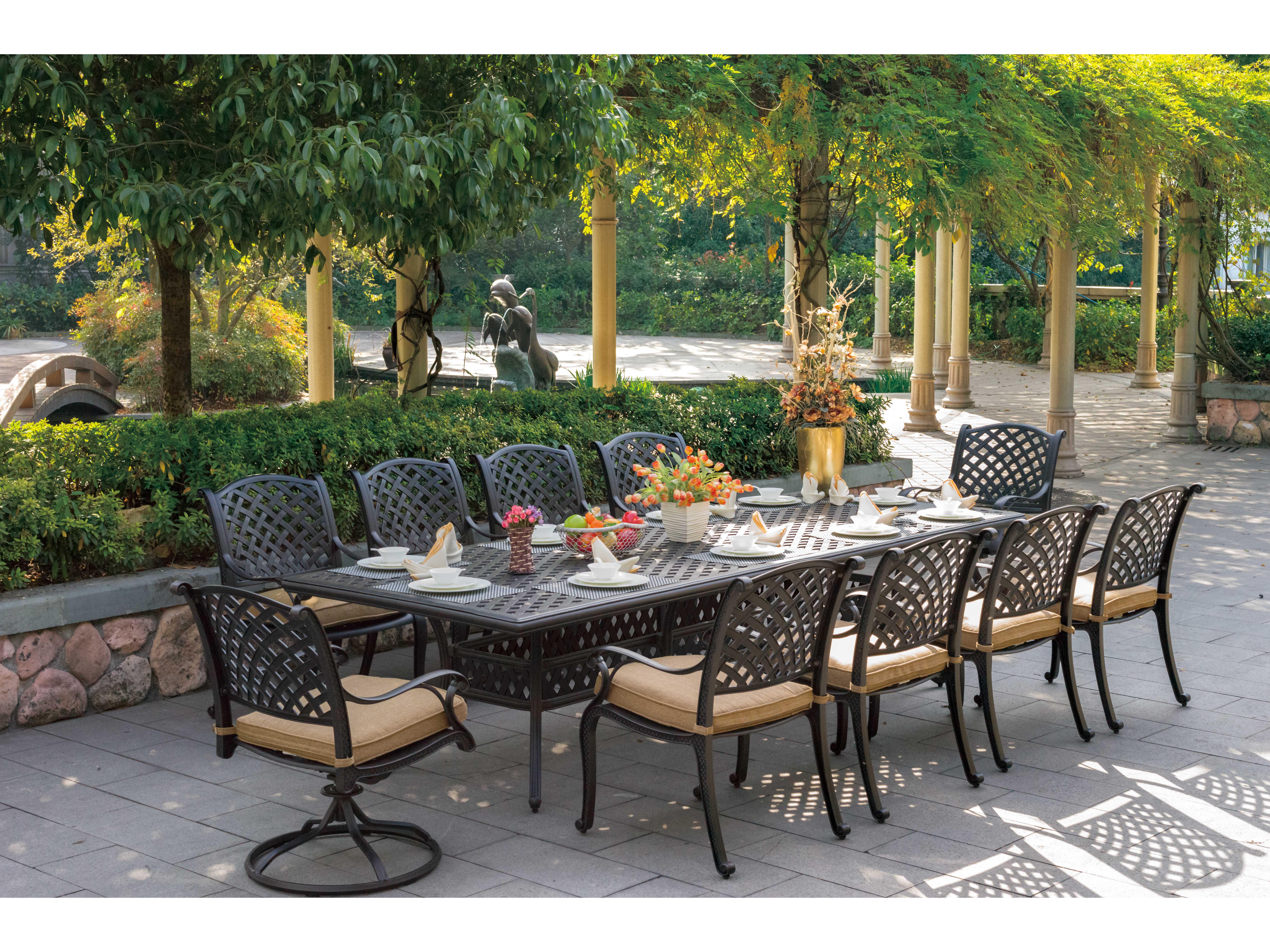 View · Darlee Outdoor Living Series 30 Cast Aluminum Antique Bronze 120 X  46 Rectangular Dining Table