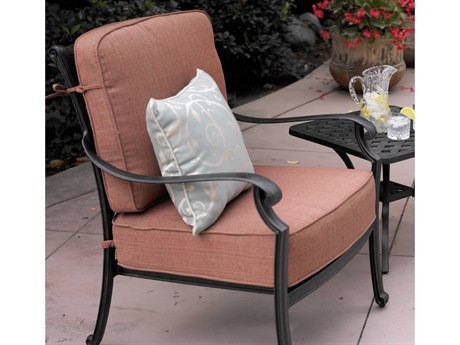 Darlee Outdoor Living St. Cruz Cast Aluminum Antique Bronze Lounge Chair (Price Includes 4) PatioLiving