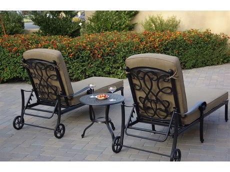 Darlee Outdoor Living Santa Monica Cast Aluminum Antique Bronze 3 Piece Lounge Set PatioLiving