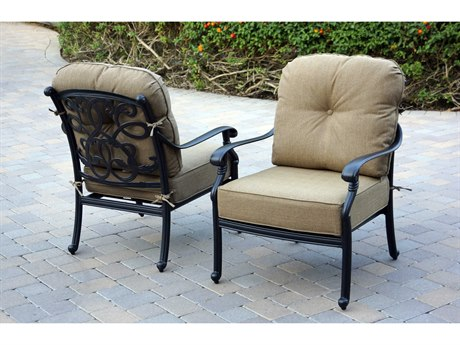 Darlee Outdoor Living Santa Monica Cast Aluminum Antique Bronze Lounge Chair (Price Includes 4)