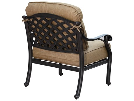 Darlee Outdoor Living Standard Nassau Cast Aluminum Antique Bronze Lounge Chair (Price Includes 4)