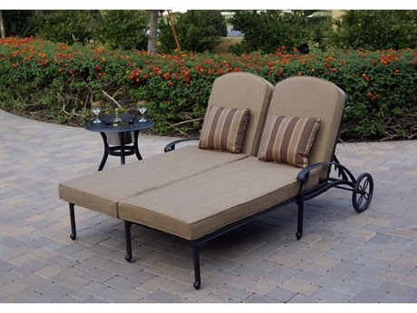 Darlee Outdoor Living Elisabeth Cast Aluminum Antique Bronze 2 Piece Lounge Set with Ice Bucket PatioLiving