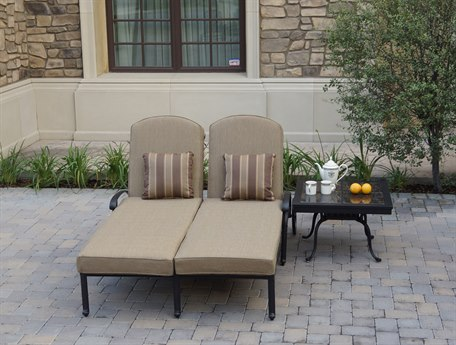 Darlee Outdoor Living Elisabeth Cast Aluminum Antique Bronze 2 Piece Lounge Set PatioLiving