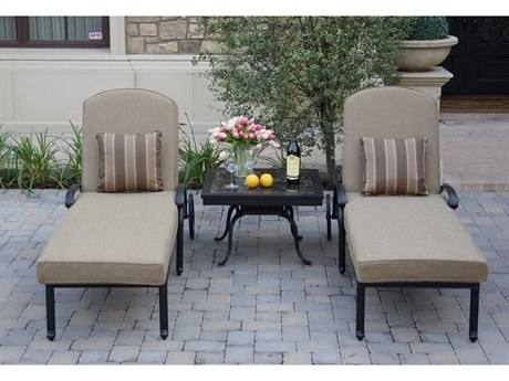 Darlee Outdoor Living Elisabeth Cast Aluminum Antique Bronze 3 Piece Lounge Set PatioLiving