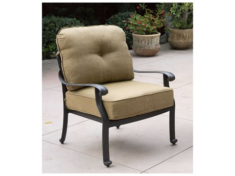 Darlee Outdoor Living Elisabeth Cast Aluminum Antique Bronze Lounge Chair (Price Includes 4) Chair