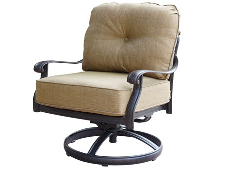Darlee Outdoor Living Elisabeth Cast Aluminum Antique Bronze Swivel Lounge Chair (Price Includes 4) PatioLiving