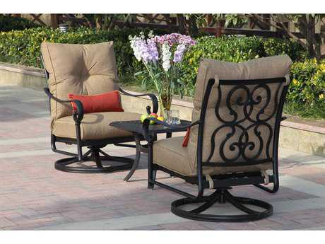 Darlee Outdoor Living Standard Santa Anita Cast Aluminum Lounge Set