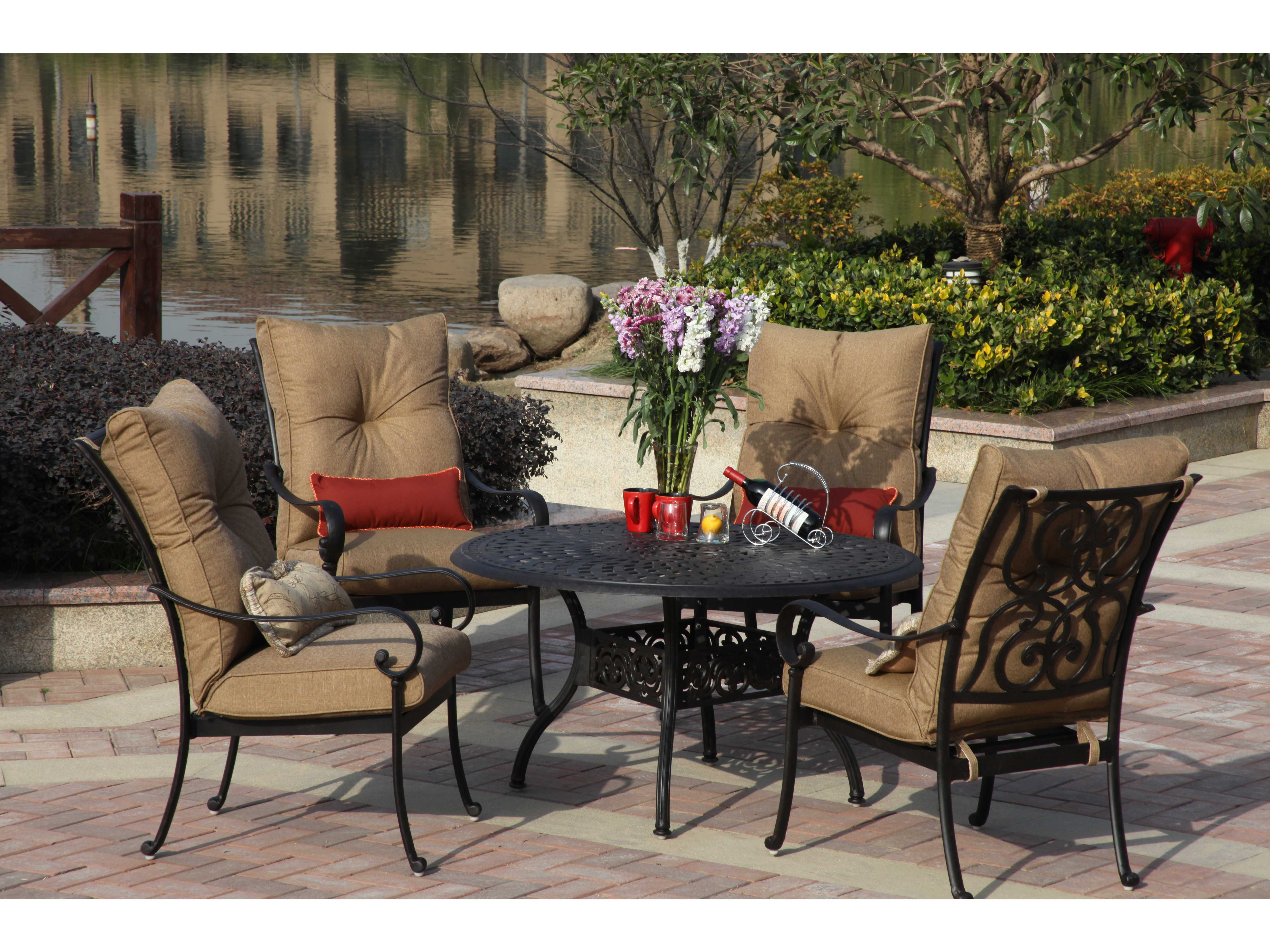 Exceptional View · Darlee Outdoor Living Series 60 Cast Aluminum 48 Round Dining Table