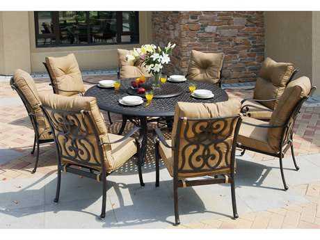Darlee Outdoor Living Standard Santa Anita Cast Aluminum Dining Set