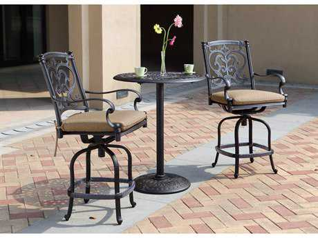 Darlee Outdoor Living Standard Santa Barbara Cast Aluminum Counter Height Set