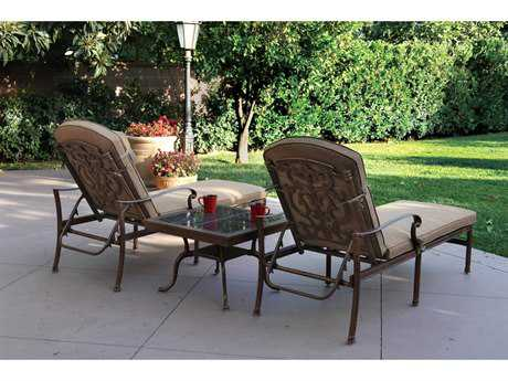 Darlee Outdoor Living Santa Barbara Cast Aluminum Lounge Set
