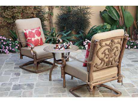 Darlee Outdoor Living Standard Santa Barbara Cast Aluminum Lounge Set PatioLiving
