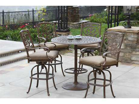 Darlee Outdoor Living Santa Barbara Cast Aluminum Bar Set
