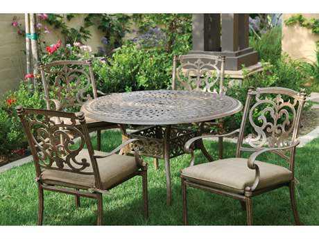 Darlee Outdoor Living Santa Barbara Casual Cushion Cast Aluminum Dining Set