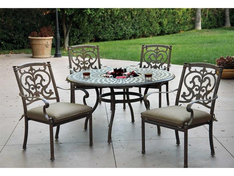 Darlee Outdoor Living Standard Santa Barbara Casual Cushion Cast Aluminum  Dining Set