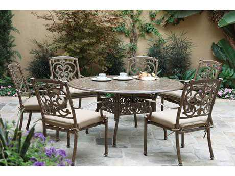 Darlee Outdoor Living Santa Barbara Casual Cushion Cast Aluminum Dining Set