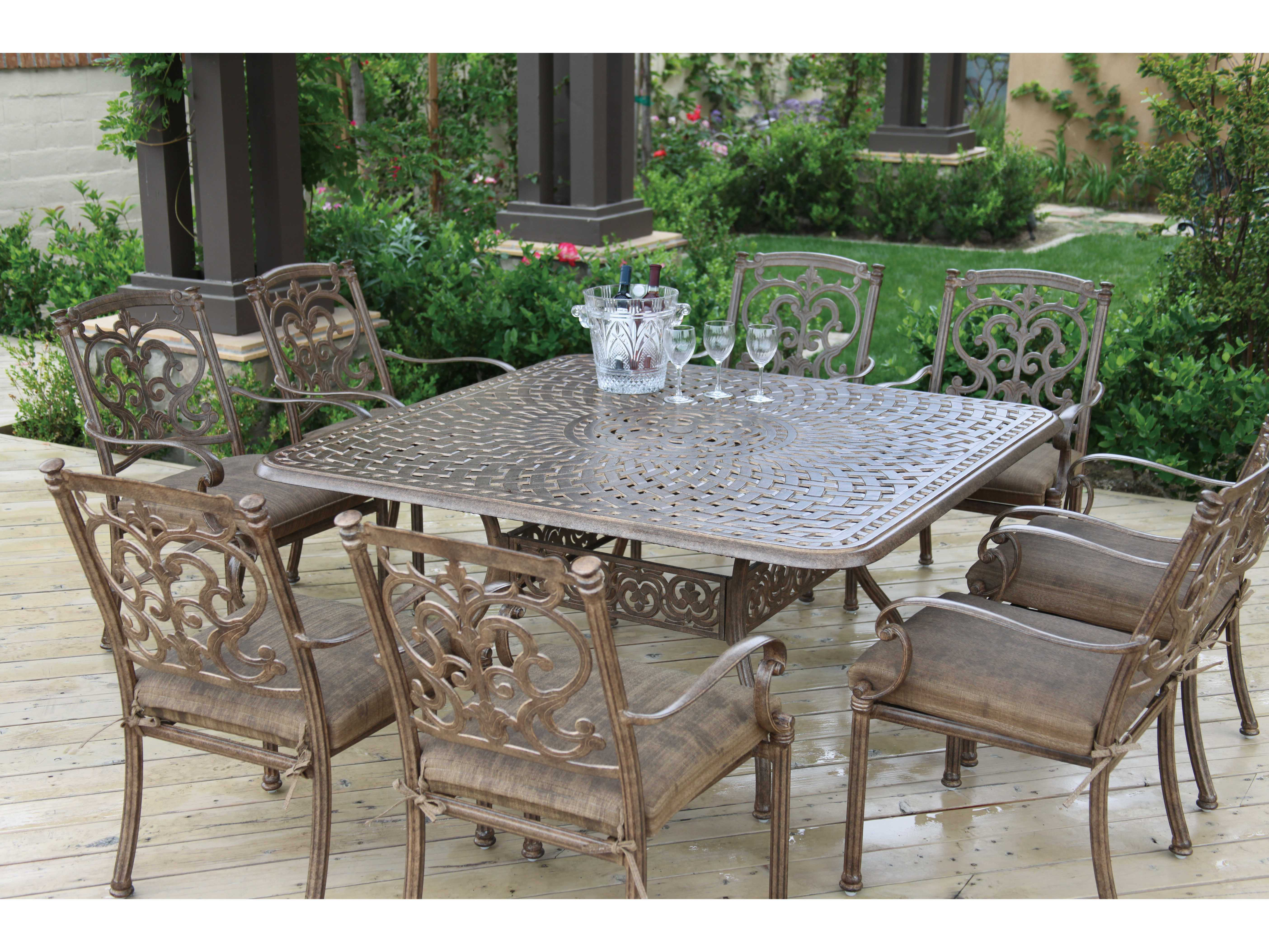 Patio Tables Dining: Darlee Outdoor Living Series 60 Cast Aluminum 60 Square