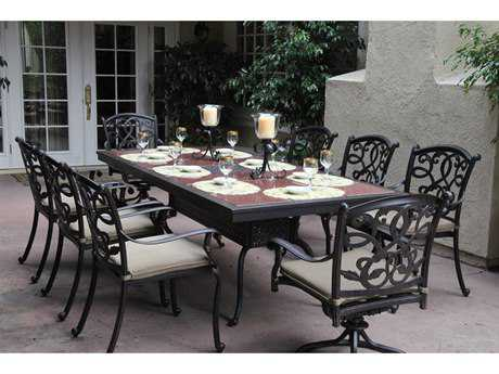 Darlee Outdoor Living Standard Santa Monica Casual Cushion Cast Aluminum Dining Set