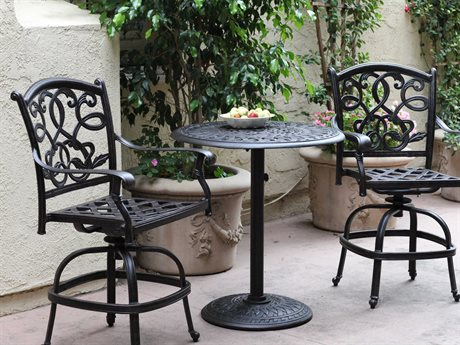 Darlee Outdoor Living Standard Santa Monica Cast Aluminum Counter Set