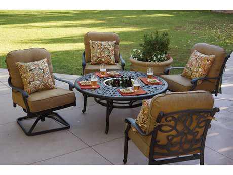 Darlee Outdoor Living Standard Santa Monica Cast Aluminum Lounge Set PatioLiving