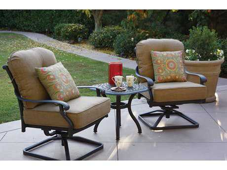 Darlee Outdoor Living Standard Santa Monica Cast Aluminum Lounge Set