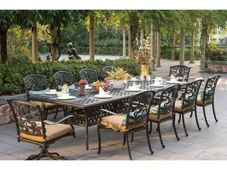 Darlee Outdoor Living Standard Santa Monica Cast Aluminum Dining Set