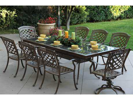 Darlee Outdoor Living Standard Sedona Cast Aluminum Dining Set